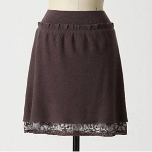 Anthropologie Knitted & Knotted Wool Skirt